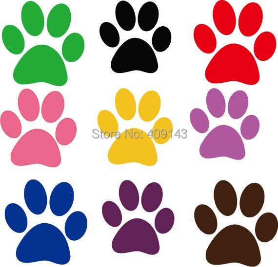 30 unids muchos colores dibujos animados Dog huella refrigerador ...