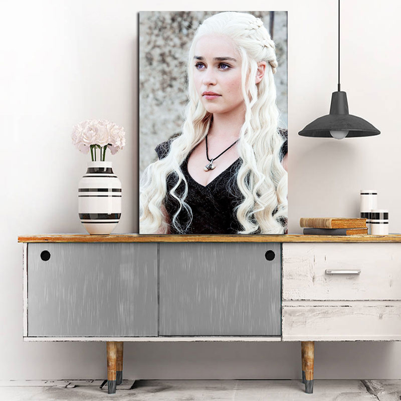 Daenerys Targaryen From Game Of Thrones Canvas Posters Prints Wall Art Painting Decorative Oil Pictures Modern Home Decoration in Painting Calligraphy from Home Garden