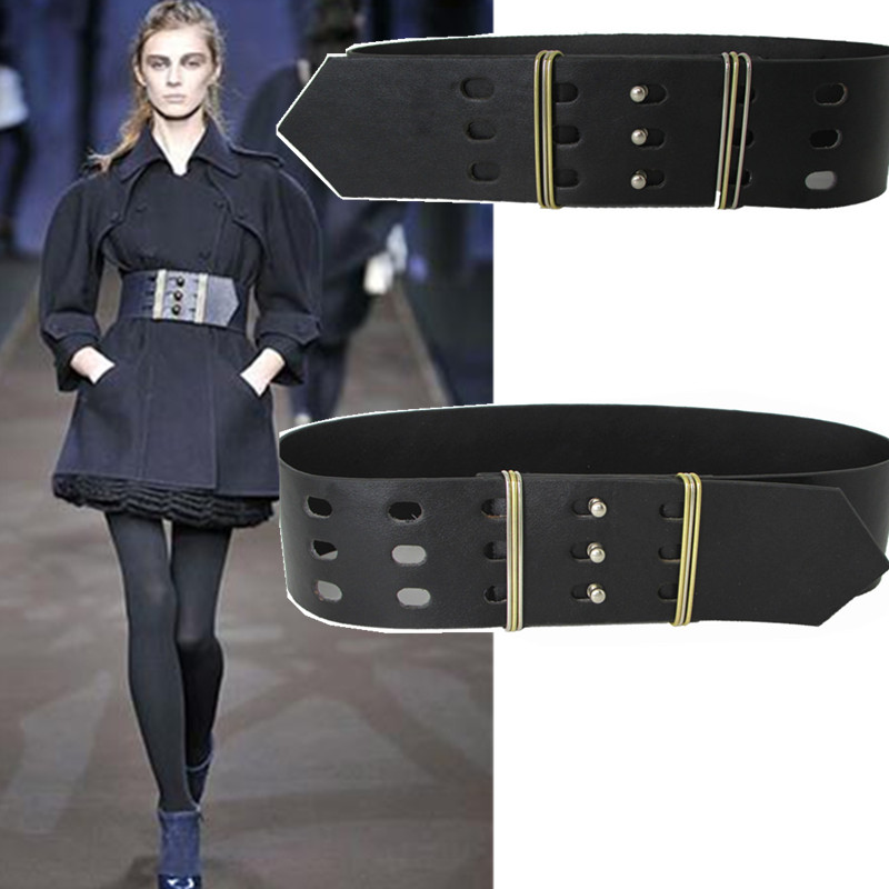 2018 new female wide girdle decoration for women High quality leather belts coat dress accessories wild waistband brand designer