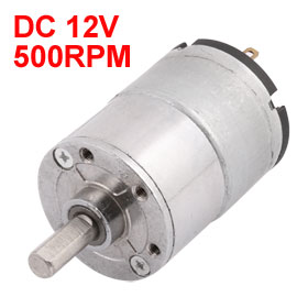 UXCELL Hot Sale 1 Pcs GA32RI DC 12V 500RPM 6mm Dia Shaft Speed Reducing Gearbox Motor