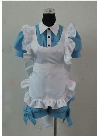 Black Butler Ciel in Wonderland Manga Maid uniform Cosplay Costume Dress 2 color