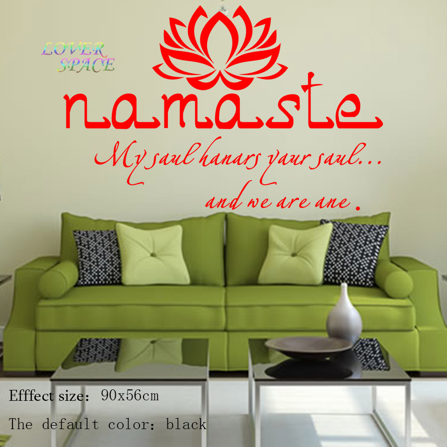 Renkli oturma gruplari 5 quotes - Aliexpress Com Buy Wall Decals Quotes Vinyl Sticker Decal Buddha Quote Namaste Yoga Mandala Wall Stickers For Living Rooms Diy Many Colors 56x90cm From