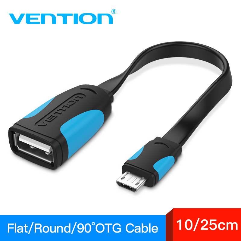 Vention OTG Cable USB 2.0 Adapter For Android Samsung S6 Redmi Note 5 Micro USB Connector For Xiaomi Tablet Pc OTG Adapter