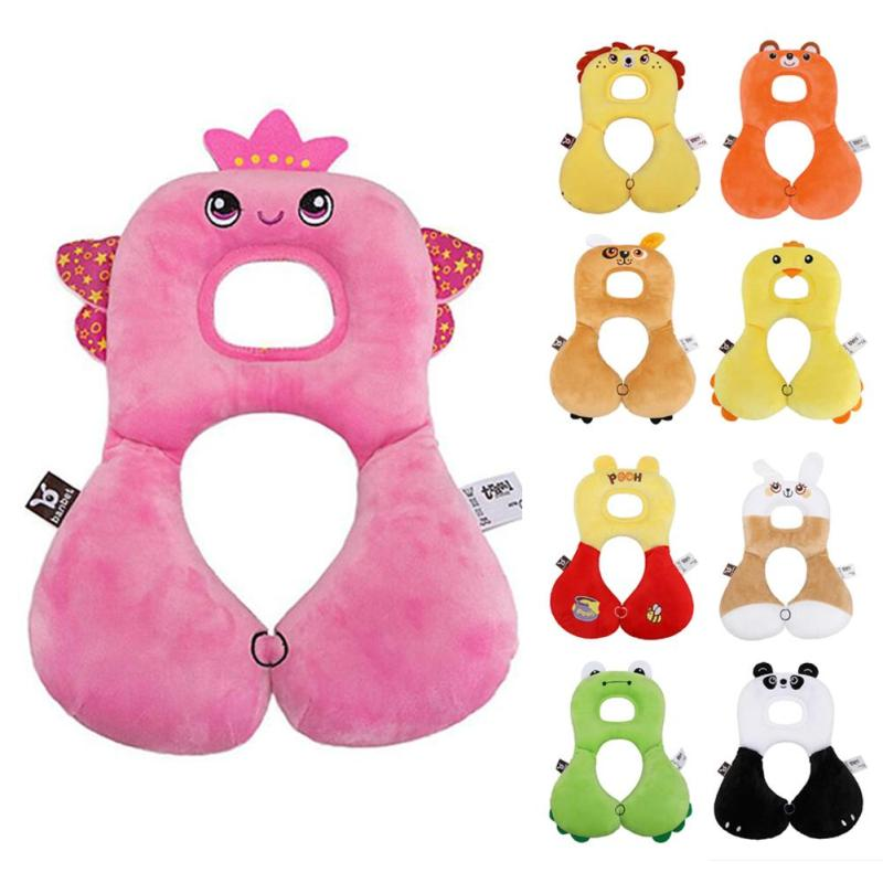 Cartoon Baby Shaping Pillow Infant Car Travel Sleeping Pillow Headrest Neck support Protection Pillow Cartoon Seat Covers B3