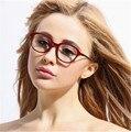 2016 mulheres Retro rodada óculos de armação de óculos óptica armações de óculos Coreano