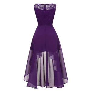 Image 3 - OML 536#Summer Sexy Lace Chiffon Violet Pink Bridesmaid Dresses Short long wholesale prom party Dress girl cheap wholesale women