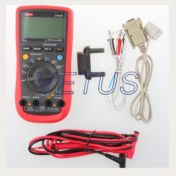 UNI-T UT61B UT-61B LCD Handheld Digital Multimeter uni t ut60d ut 60d lcd handheld digital multifunction multimeter with autorange bandwidth 100khz 3db