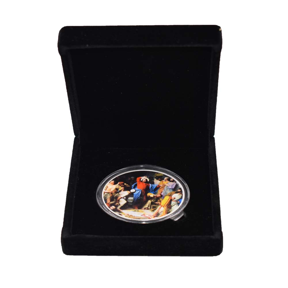 Jesus Commemorative Challenge Coin Christianism Silver Promotional Event Gift Collection