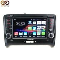 Sinairyu Android 7.1 Carro DVD player de Rádio Para Audi TT 2006-2012 GPS Do Carro Navegação Multimídia com 4G wi-fi Gratuito Mapa