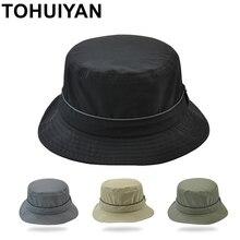 TOHUIYAN impermeable Nylon cubo Sombrero hombres mujeres rápido seco  plegable Sombrero gorras Primavera Verano protección UV d7ebaefd0bd