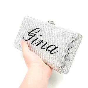 Image 4 - พิเศษการปรับแต่งสุภาพสตรีชื่อออกแบบเจ้าสาวงานแต่งงานกระเป๋าสตางค์ Evening PARTY เพชรคริสตัล Clutches กระเป๋า