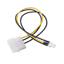 Фирменная Новинка Процессор шасси чехол вентилятор Мощность соединительный кабель с разъемом кабеля адаптера для 4-контактный молекс IDE/SATA 3-Pin Лучшая цена
