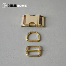 1 set plated metal buckle 25mm webbing D rings  for bag dog pet collar accessories adjustment snap hook zinc alloy