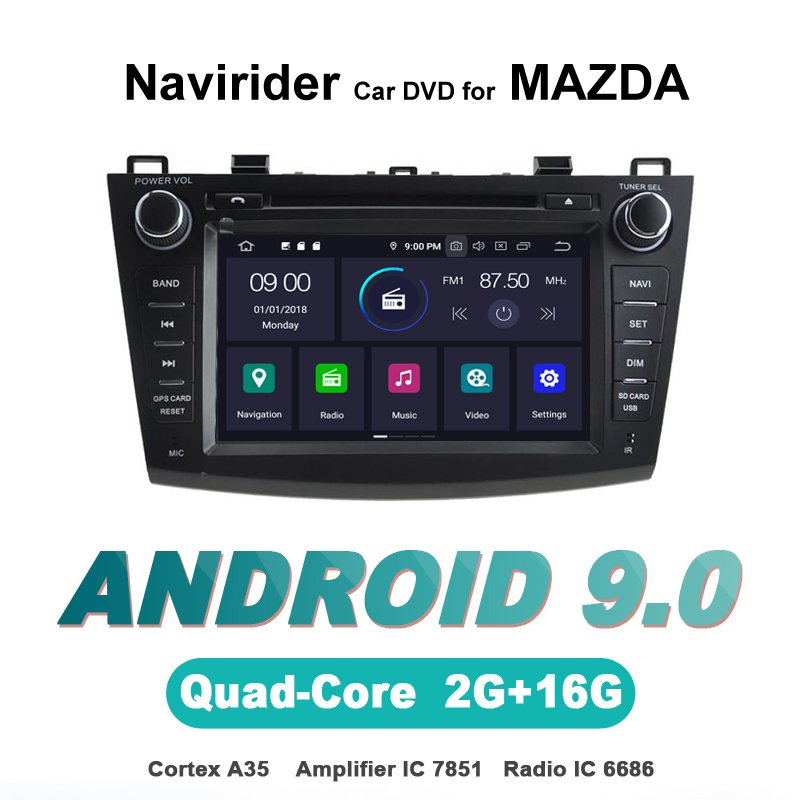 Worldwide delivery mazda 3 android car stereo for mazda 3