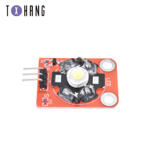 1PCS 3W High-Power KEYES LED Module with PCB Chassis for Arduino STM32 AVR keyes kt0053 breadboard ceramic capacitors resistors more for arduino multicolored