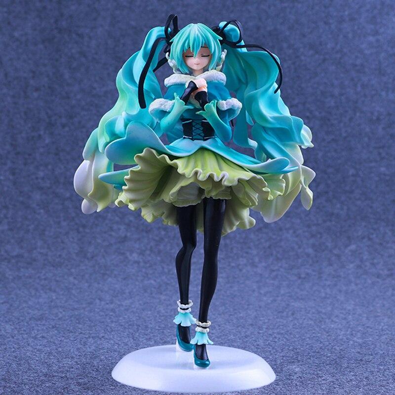 Boutique Anime jouet 1/7 neige en été Hatsune Miku figurine d'action grand VOCALOID Miku modèle poupée de collection haut cadeau 28 cm