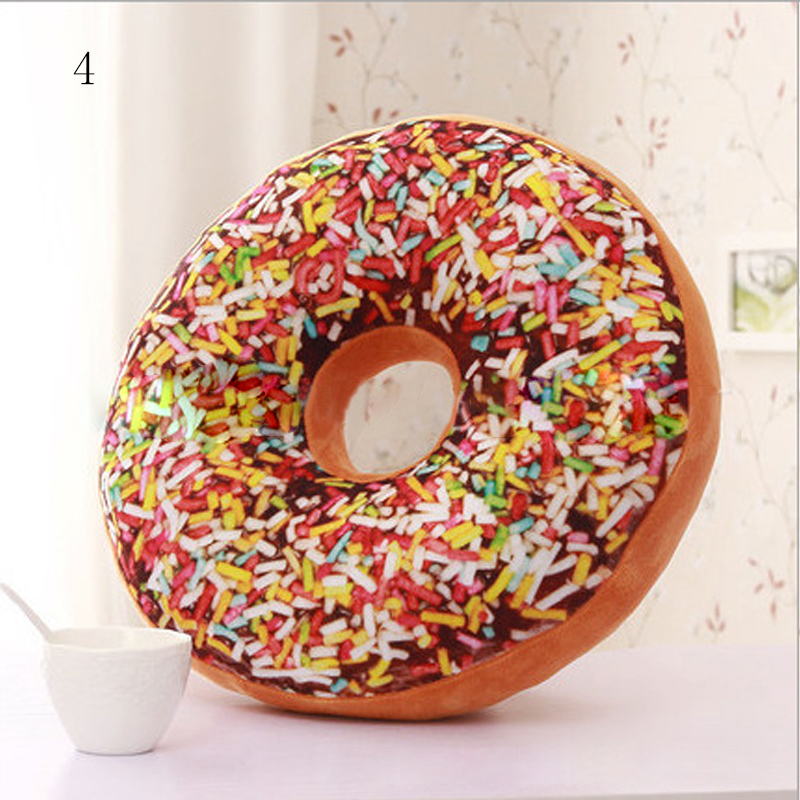 Chocolate Donuts Cushion And Soft Plush Pillow Car Seat Mats Cushion 12