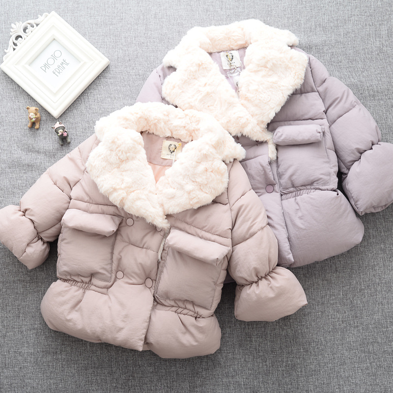 Girls Winter Jacket Limited Cotton Clothing On Behalf Of 2016 New Winter Coat Jacket Child Thickened