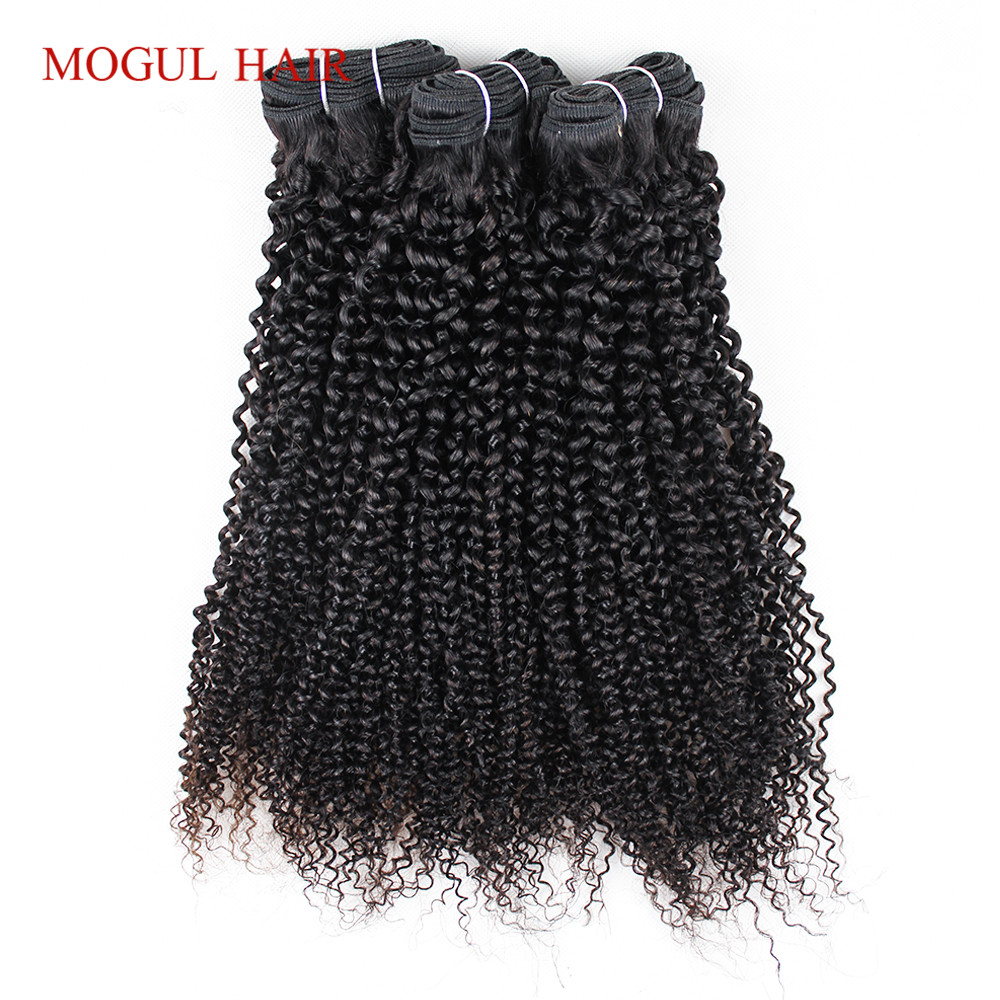 Mogul Hair Afro Kinky Curly Hair Extensions 2/3 Bundles Malaysian Remy Human Hair Weave Bundles Flat Packed 10-26 inch