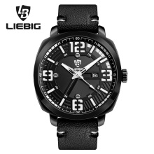 LIEBIG Men's Quartz Wristwatches New Fashion Sport Watch Man Waterproof Calendar relogio masculino Military With Gift Box S201