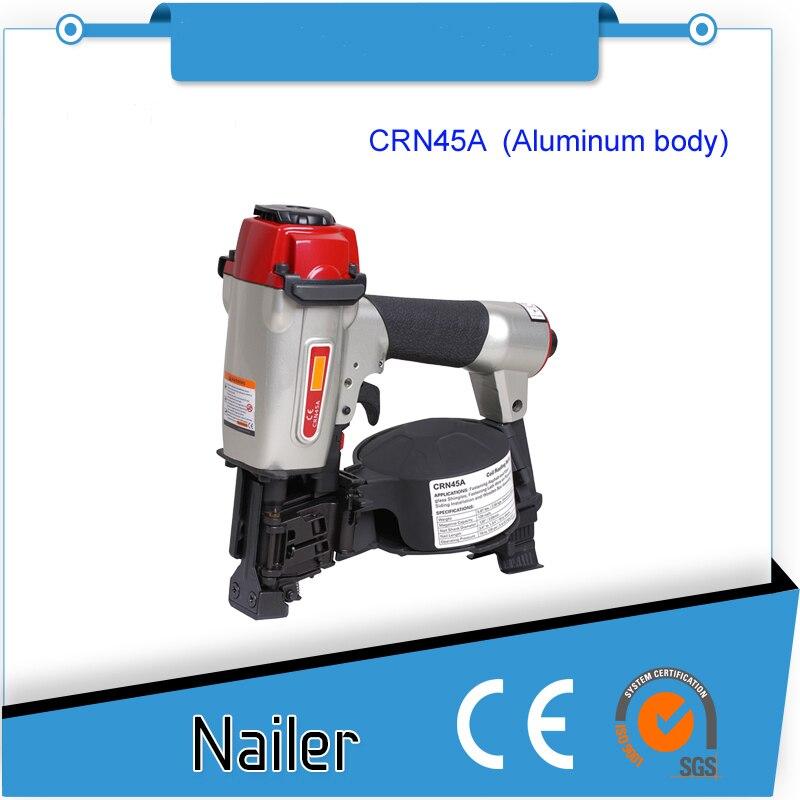 High Quality AIR COIL ROOFING NAILER GUN CRN45A Pneumatic Nailer