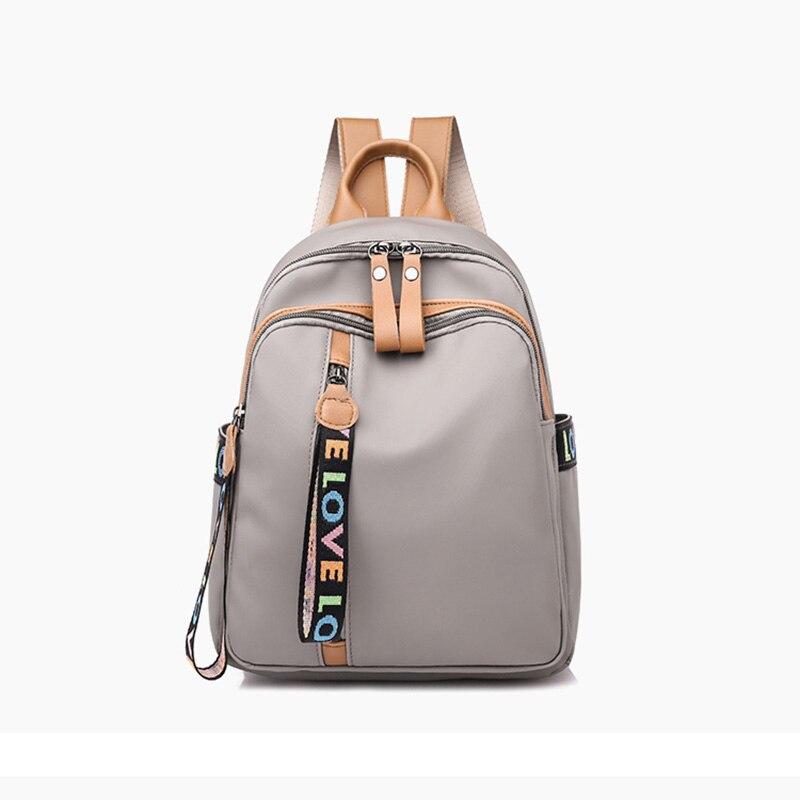 2018 woman new design fashion Simple black backpack cloth casual shoulder bag female book bag soft leather school Сумка