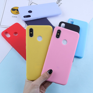 Image 2 - Candy TPU Case For For Xiaomi Mi A2 Lite 9 8 Matte Candy Color Silicone TPU Phone Case For Xiaomi Redmi Note 7 6 5 Pro Cover