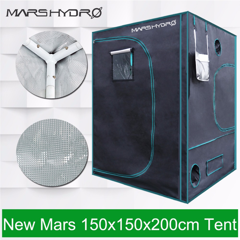 Mars Hydro 1680D 150x150x200cm Grow Tent Grow Kit for Hydroponics Indoor Greenhouse цена