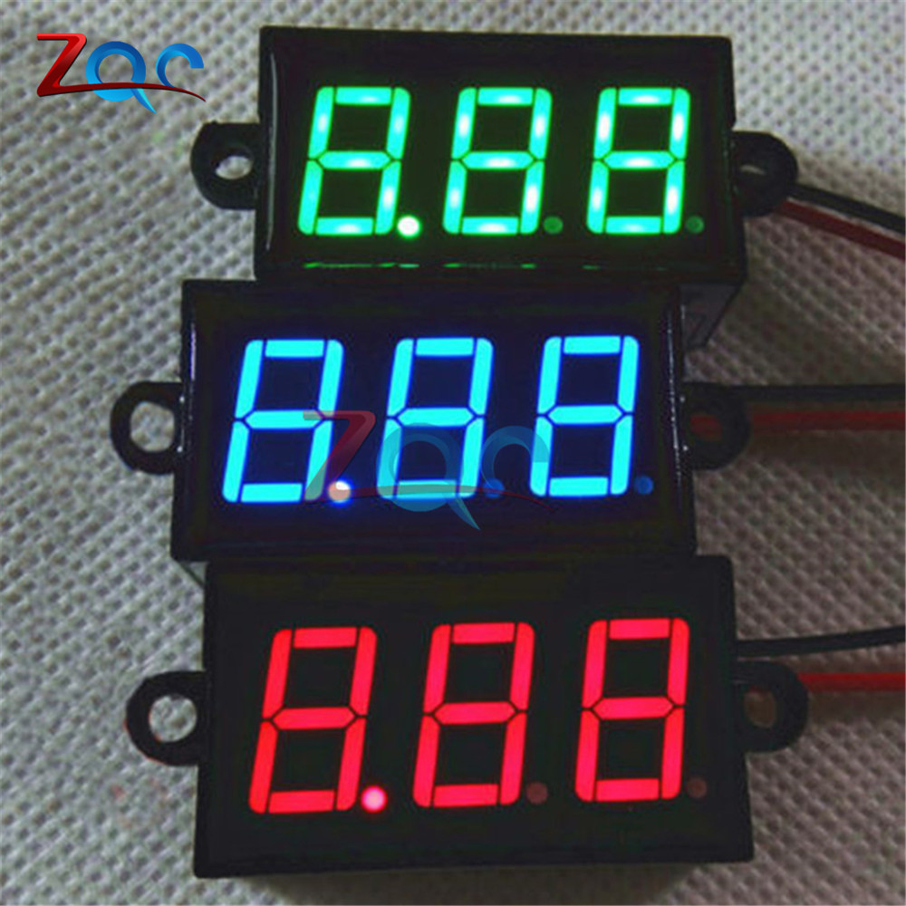 Measurement & Analysis Instruments New Arrival Hot Sale Waterproof 0.28 Dc 3.5-30v Mini Digital Led Voltmeter Volt Meter F 12v Car Moto Red Color 20% Off Non-Ironing Electrical Instruments