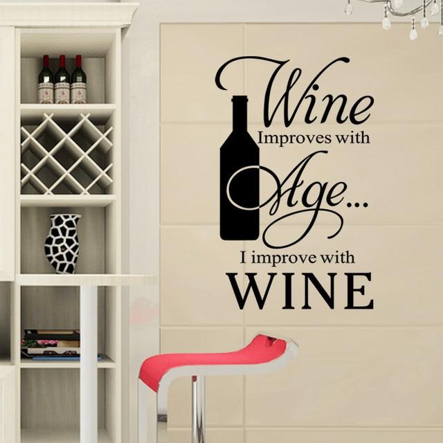 Neue Design Kreative Sprüche In Englisch Wein Dekoration Wandaufkleber  Wohnzimmer Wandtattoos Küche Restaurant Tapeten