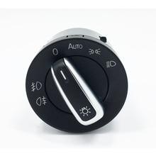 цены For VW Golf Jetta MK5 MK6 GTI Passat B6 B7 CC Touran Tiguan Chrome Auto Headlight Switch Fog Head Light Lamp Knob 5ND 941 431 B