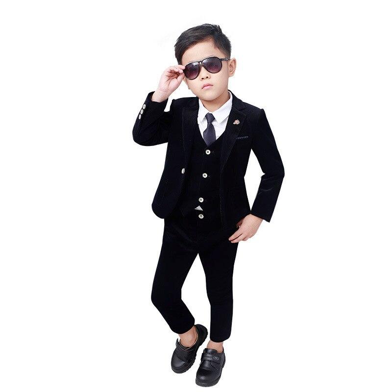 Hochzeit Anzug Für Blume Jungen Kinder Formale Blazer Jacke Weste Hosen Krawatte 4 Stücke Smoking Schule Kinder Gentleman Party Host Kleidung