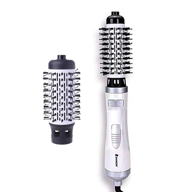 Hair Straightener Brush 1000W Hair Dryer Brush 360 Rotating Professional Electric Hair Brush Comb 220V Hair