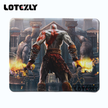 Sizzling Sale Kratos God Of Conflict Anti-slip Mousepad DIY Design PC Laptop computer Pc Sport Mouse Pad Lock Edge Mice Mats 250x210mm