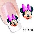2016 Venta Caliente Esmalte de Uñas Agua Calcomanías Lindo Mickey Mouse Diseño Slider Nail Nail Art Nail Stickers Patrones De Papel Holográfico