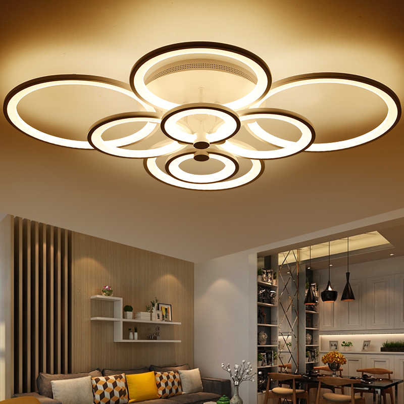 Black/White Finished Modern Led Ceiling Lights For Living Room Bedroom Study Room Home Deco Ceiling Lamp avize Free Shipping