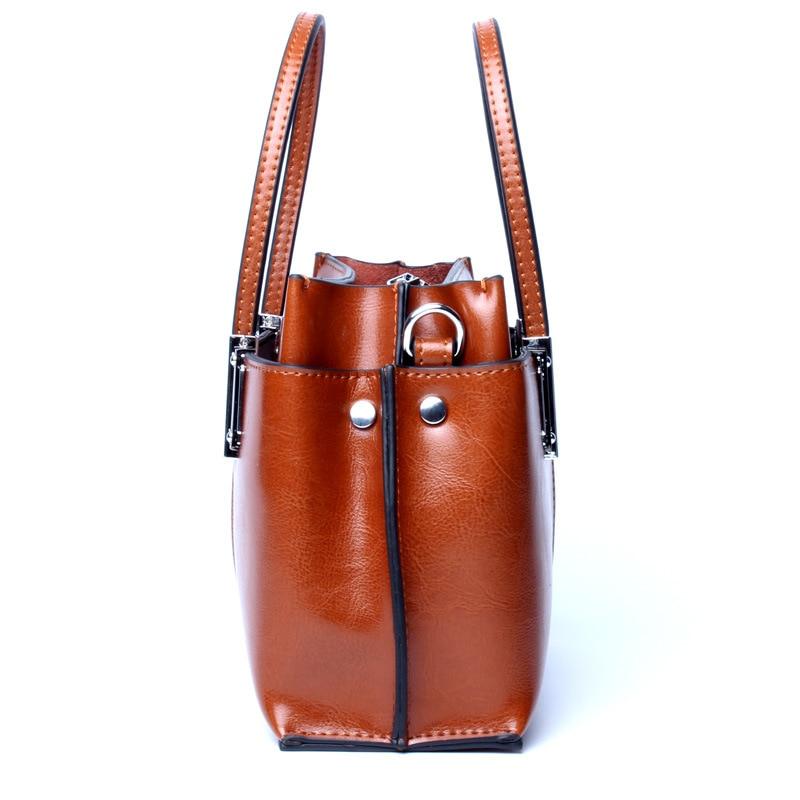 naiste nahast käekotid kvaliteetne naine kott tõeline lehm tõeline - Käekotid - Foto 4