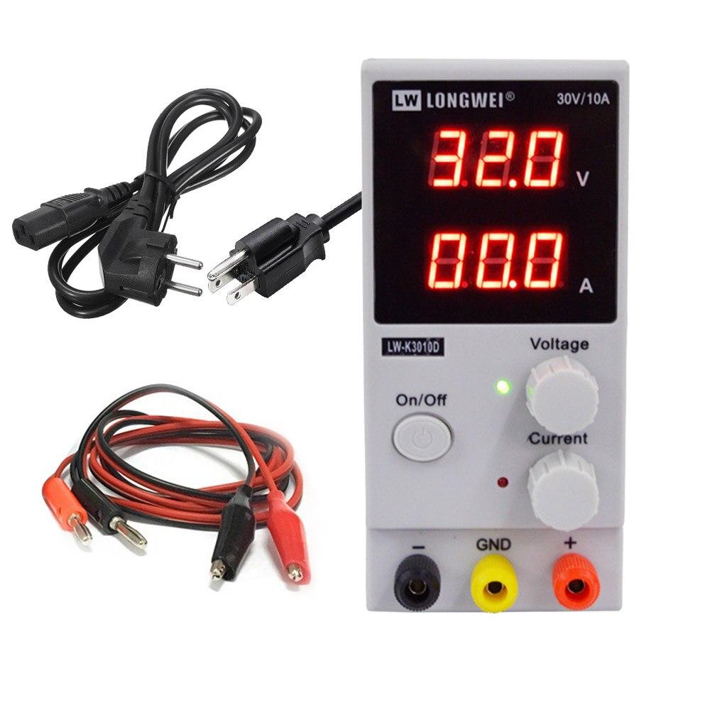 LW 3010D DC fuente de alimentación ajustable Digital batería de litio carga 30 V 10A interruptor de laboratorio fuente de alimentación regulador de voltaje