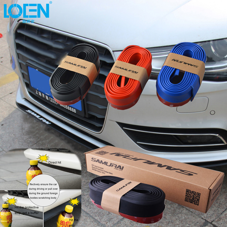 Bumper sticker creator free - 2 5m Universal Car Door Front Bumper Car Sticker Anti Collision Strip Diy For Toyota Camry Corolla Audi Cruze Polo Car Styling
