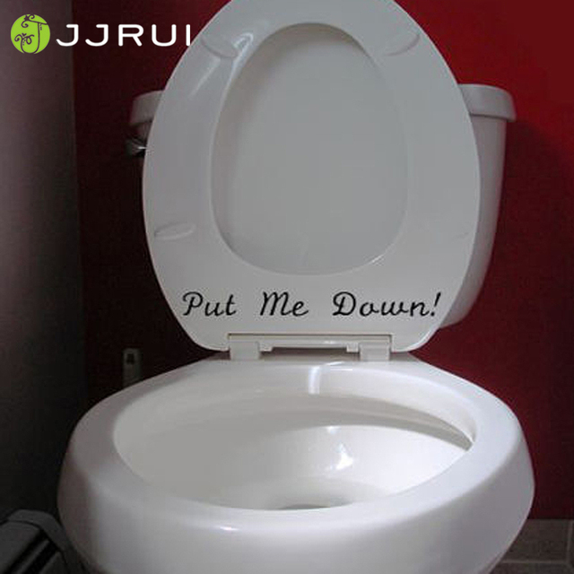 JJRUI PUT ME DOWN Novelty Funny Bathroom Toilet Seat Hand Vinyl ...