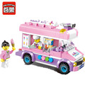 Enlighten 1112 Mobile ice cream truck Building Blocks Bricks Toys For Children Christmas Gift for kids