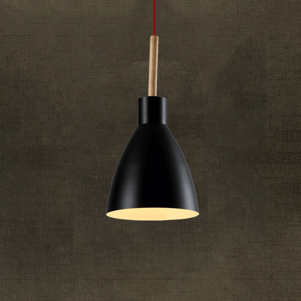 aliexpresscom  buy modern pendant light nordic style suspension  - aliexpresscom  buy modern pendant light nordic style suspension luminaire hanginglamp vintage pendant lamp rustic wood light aluminium lampshade from