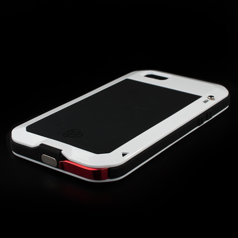 For Apple iPhon 4 5S SE Case Aluminum Metal Silicone Tempered Glass Waterproof Doom Rugged Armor Cover Cases for iP 6 6S 7 Plus