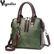 Vintage PU Leather Ladies HandBags Women Messenger Bags Tote
