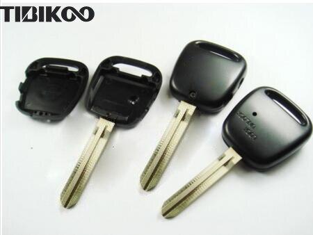 Замена неразрезанного лезвия для Toyota боковой 2 кнопки дистанционного ключа оболочки с наклейкой
