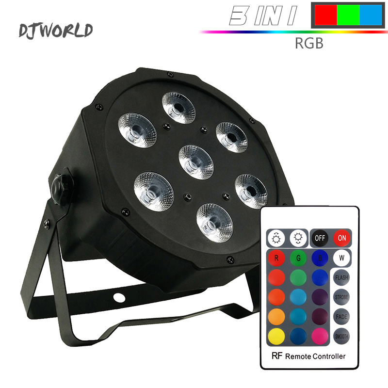 Wireless Remote Control 7x12W RGBW 4in1 Color Mixing Uplighting KTV Light with Professional for Party Ballroom DJ Disco Music