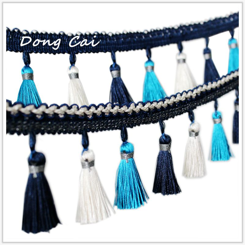 tablecloth tassel lace curtain tassel trim home textile cloth art sofa accessories stage lace table flag lace 7color 8CM width in Tassel Fringe from Home Garden