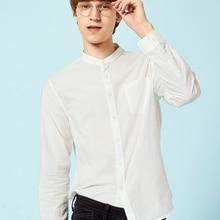 SEMIR Mens Band-Collar Shirt Men's Regular Fit Shirt Long Sl