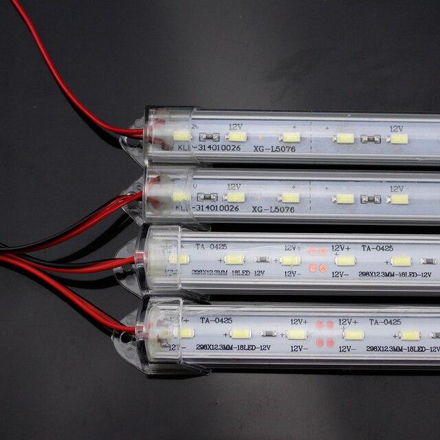 YNL LED Buis Lamp 12V SMD 5730 Plastic Fluorescerende Licht Buis Hoge Helderheid 50cm LED Wandlamp Koud wit