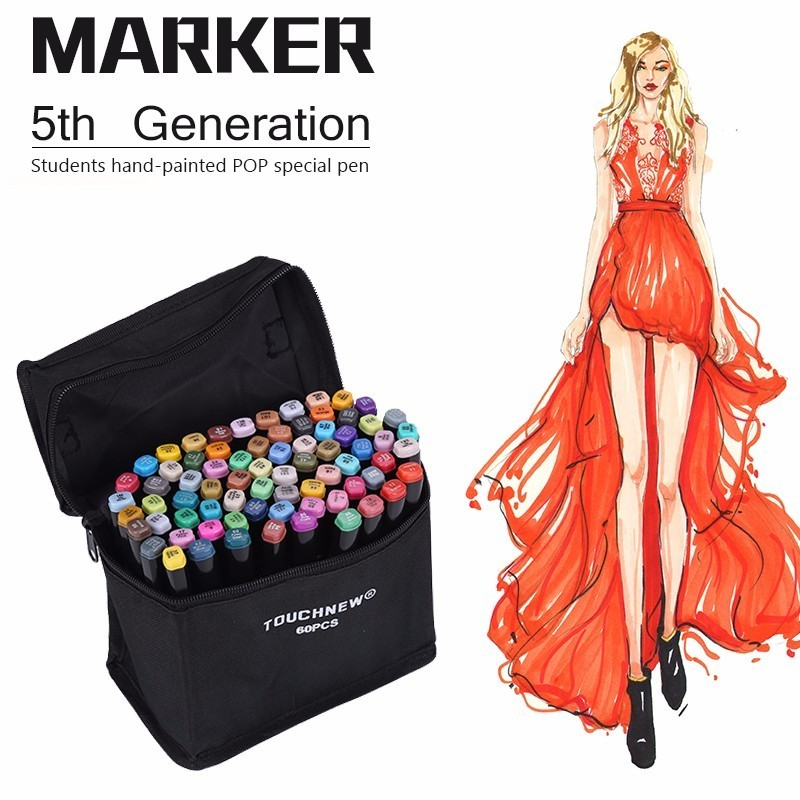 TOUCHFIVE 30/40/60/80 Color Painting Manga Art Marker Pen Dual Headed Artist Sketch Oily Alcohol Based Markers For Animation touchfive marker 30 40 60 80 color alcoholic oily based ink art marker set best for manga dual headed art sketch markers